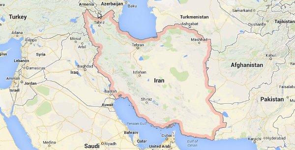 عکس گوگل مپ از کشور ایران
